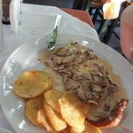 Veal Schnitzel, with Fried Potatoes ...