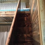 Access to the sleeping loft.