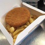 fishcake and chips