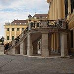 Scalinata centrale (non più utilizzata) per l'ingresso al palazzo.