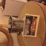 Champange and card to mark 25th Anniversary