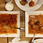 Chicken Masala and vegetarian dish