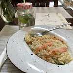 RISOTTO with leek and smoked salmon