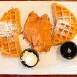 Chicken and Waffles - Your choice of plain or sweet potato pecan waffle