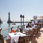 Unsere Harbour Lounge mit traumhaftem Blick