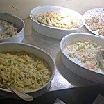 tagliatelle, noodles al latte di cocco,pasta integrale, polpettine insapore (unico no)