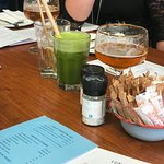 Green juice and beers
