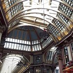 Beautiful Leadenhall Market where we learned about its history and the meaning behind the dragon