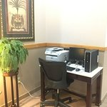 One of Two Guest Business Centers in Hotel Lobby
