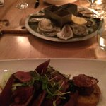 Oysters and Duck Breast
