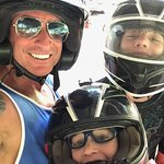 My sons and I getting ready to ATV for first time