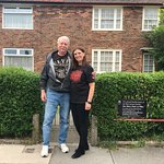 This is Jackie and I front of the McCartney family house.