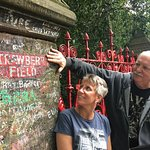 This is my sister and I at Strawberry Field