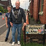 My sister and I at Penny Lane
