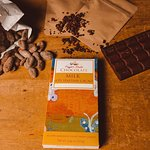 From the cacao bean to a chocolate bar.  Haitian beans have a rich, decadent taste.