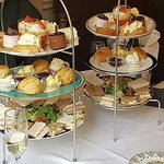 High tea with prosecco