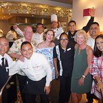 After the chef's dinner- photo with everyone and with Monica Damian -dinner organizer