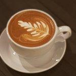 A delicious creamy cappuccino
