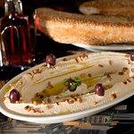 Hummus Dip with sesame bread