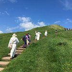 Druids on the way to Glastonbury Tor