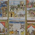 Mosaico con maioliche nel centro storico