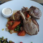 Tasty lamb cold and tasteless everything else