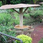 Fun seating area in garden