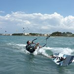 how the board can get faster than you kitesurfing lessons in Pollensa Mallorca in June