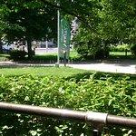 Toller Ausblick auf einen kleinen Park