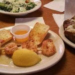 Shrimp appetizer with two sides added made a great meal.