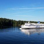 Ferry through the islands.