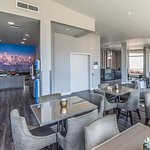 Lobby Lounge, water refill station, reception and breakfast space