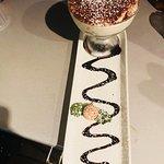 Amici's homemade Tiramisu and very popular Affogato al caffe