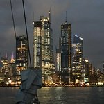 NYC skyline from boat