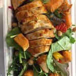 Take away peri peri chicken salad, delicious!