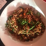 Nice meal! Veg fried rice, veggie nachos and salad!