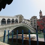 View of the Rialto from the cafe