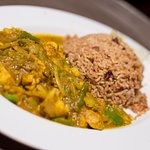Curried chicken and rice and peas anyone?