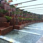 Hotel entrance fountains