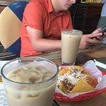 Deliciosos vasos de horchata - bebida típica de Honduras -