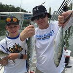 Dad and son with Spanish Mackerel