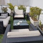 3rd floor open patio/sitting area