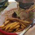 Medium rare burger!