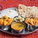 Vegetarian Thali- Dinner combination.