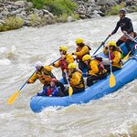 Photo from early rapids on the 8-mile raft trip.