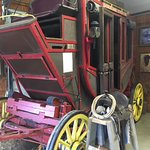 Stage coach inside the gift shop and museum.