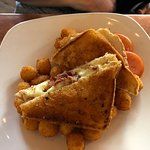 Wonderful grilled cheese with tater tots