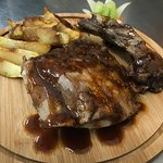 Spare ribs with american potatoes