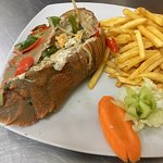 Steam rock lobster