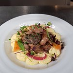 Ce midi le chef vous propose son rognon de veau, polenta aux morilles et au Xérès.